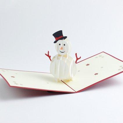 3D přání Sněhulák