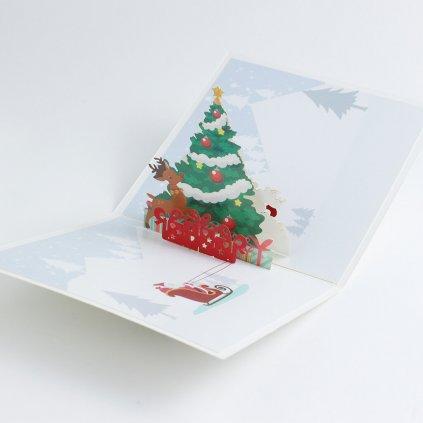 3D přání Vánoční stromek