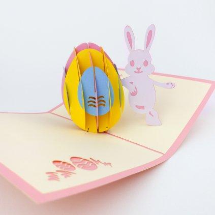 3D přání Velikonoční zajíček
