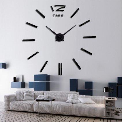 Moderní velké nástěnné hodiny s odrážkami bez čísel