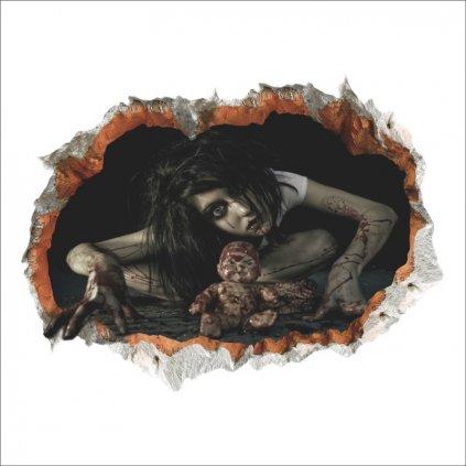 samolepka Halloween horor panenka
