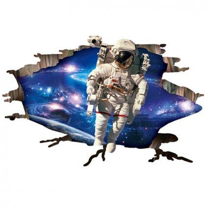 samolepka Kosmonaut a hvězdy