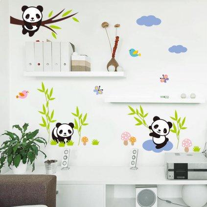 samolepka na zeď Hravá Panda