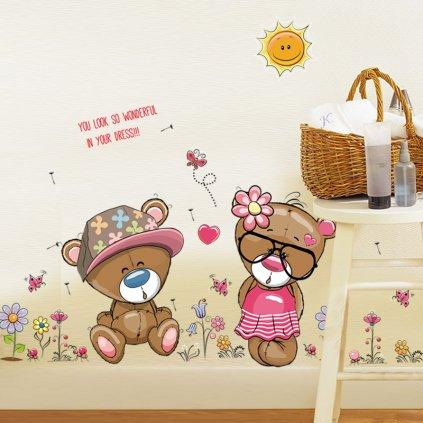 samolepka na zeď Hraví medvídci
