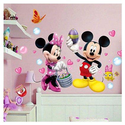 samolepka na zeď Minnie a Mickey Mouse