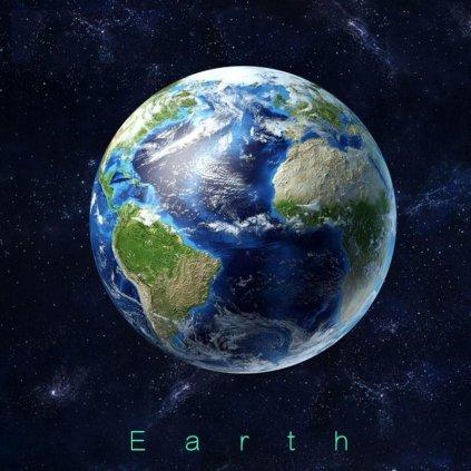 Samolepka na zeď Svítící Země