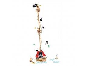 samolepka na zeď Metr pirátská loď