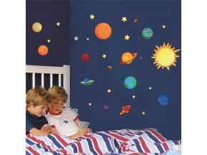 samolepka na zeď Sluneční soustava