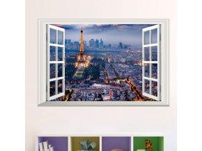 samolepka Okno s výhledem na Paříž