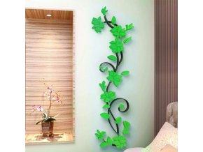 Samolepka 3D Kytky Zelený