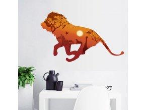 Samolepka na zeď Lev