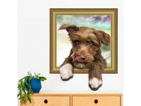 Samolepka na zeď Malé štěně