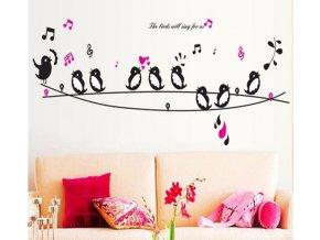 Samolepka na zeď Zpívající ptáčci