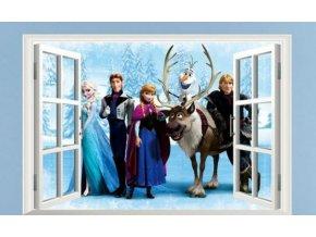 samolepka Okno Ledové království Frozen