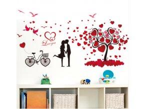 Samolepka na zeď Zamilovaný pár