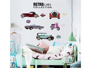 Samolepka na zeď Retro auta Veterán