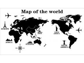 Samolepka na zeď Mapa celého Světa