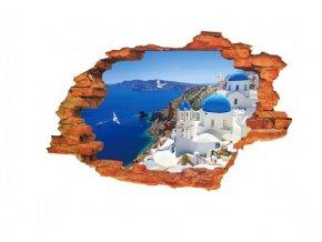 3D Samolepka na zeď Výhled na Řecko