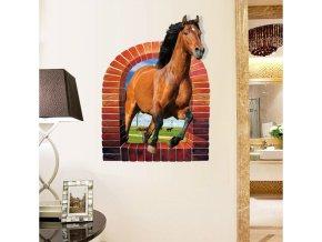 Samolepka na zeď Kůň v okně