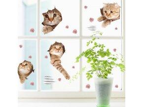 Samolepka na zeď Kočky