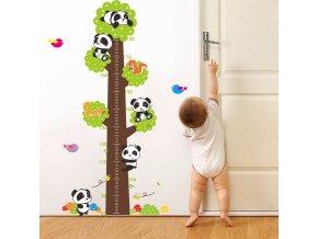 Samolepka na zeď metr Pandy