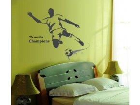 Samolepka na zeď Černý fotbalista