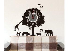 Samolepící dětské hodiny Afrika