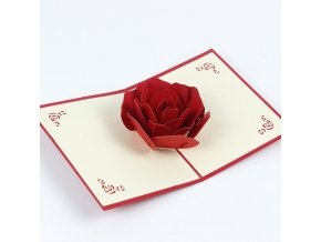 3D přání Květ růže