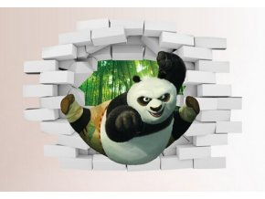 Samolepka na zeď 3D Kung-Fu Panda