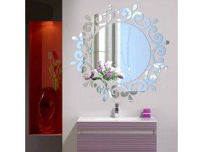 Kulaté samolepicí zrcadlo stříbrné