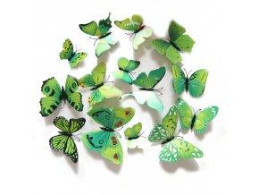 Motýlci magnet a samolepka Zelení