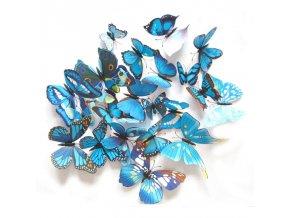 Motýlci magnet a samolepka Modří
