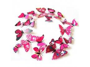 Motýlci magnet a samolepka Růžoví