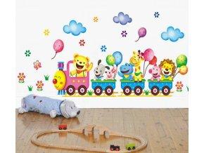 samolepka Vláček s balónky