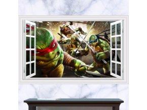 samolepka Želvy ninja v plné zbroji