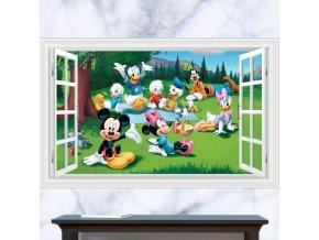 samolepka Mickey Mouse Minnie kačer Donald Goofy