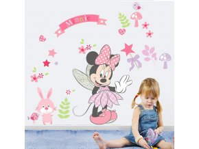 samolepka na zeď Minnie Mouse