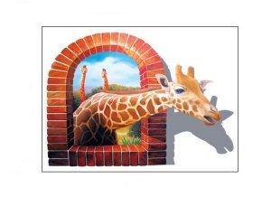 samolepka na zeď Safari Žirafa