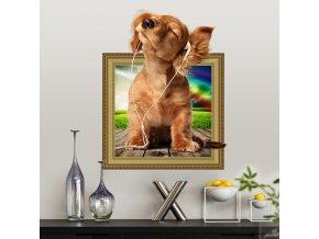 samolepka na zeď Roztomilé štěně