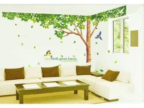 Samolepka na zeď Zelený listnatý strom