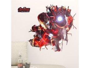 samolepka na zeď Iron Man Avengers