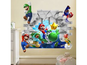 samolepka na zeď hra Super Mario