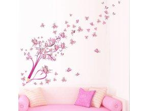 samolepka na zeď Pastelka s motýlky