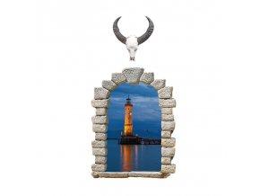 samolepka na zeď Okno s výhledem na maják
