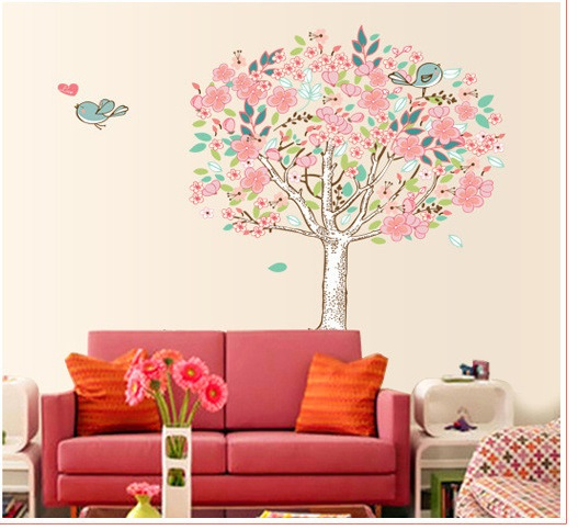 Živá Zeď samolepka Rozkvetlý strom 100 x 90 cm