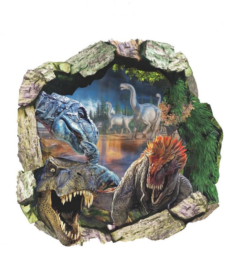 Živá Zeď Samolepka Dinosauři Jurský park 50 x 50 cm