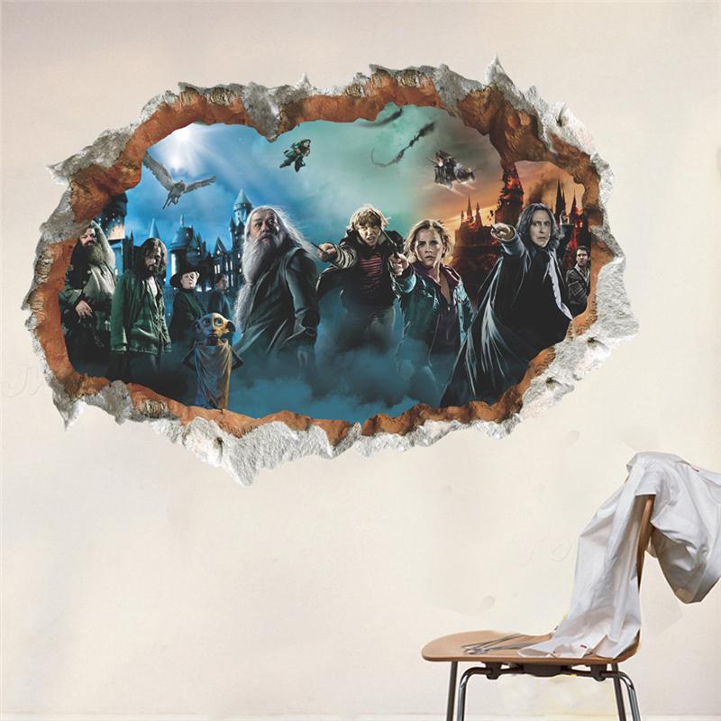 Živá Zeď Samolepka Harry Potter 50 x 70 cm