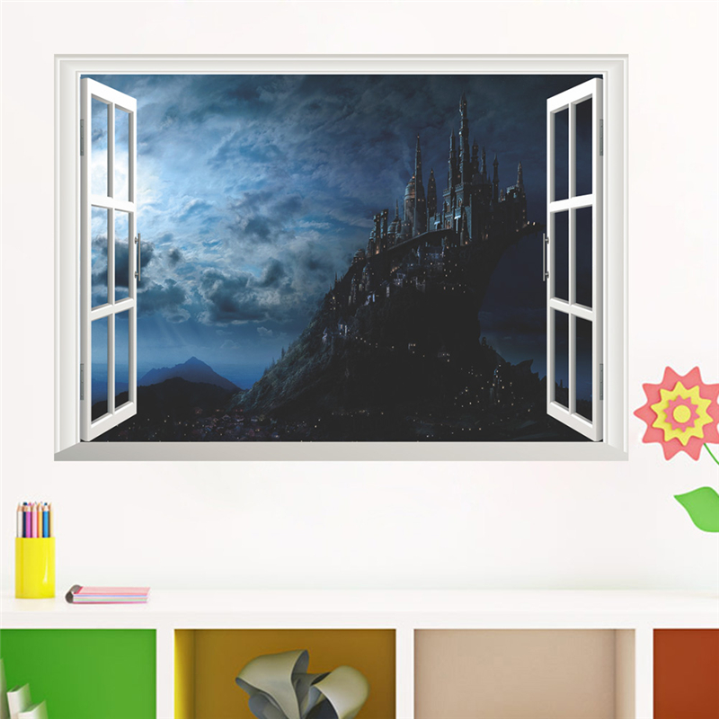 Živá Zeď Samolepka Harry Potter škola Bradavice 50 x 70 cm