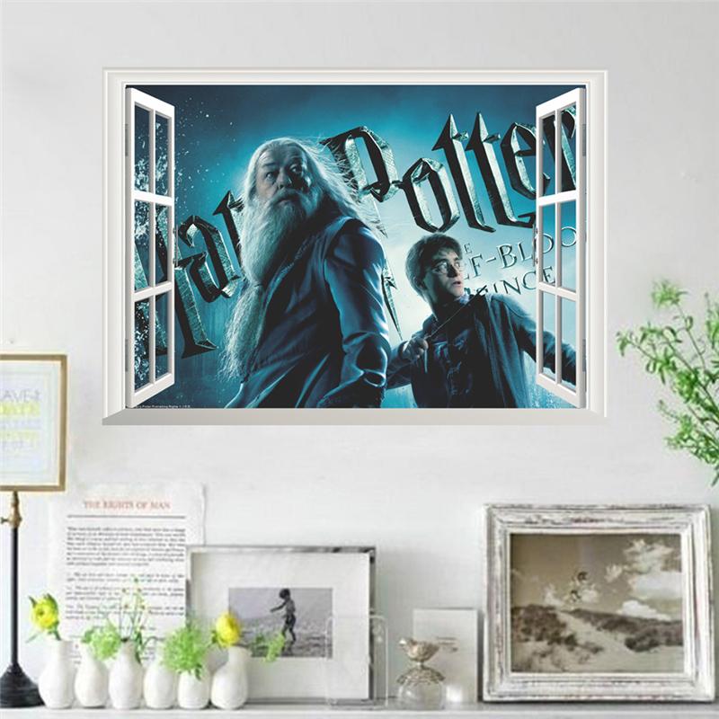 Živá Zeď Samolepka Harry Potter a Brumbál v okně 50 x 70 cm