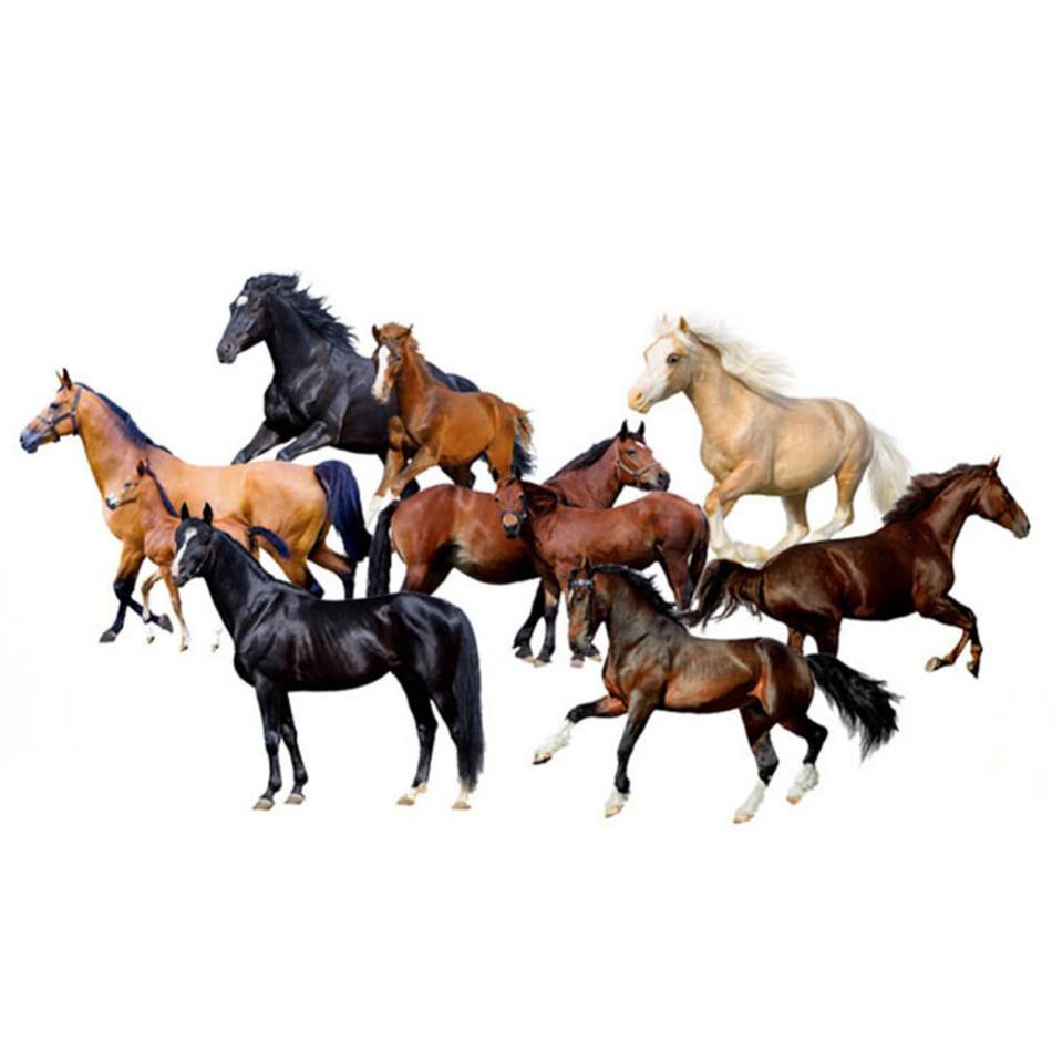 Živá Zeď samolepka Stádo koní 120 x 80 cm